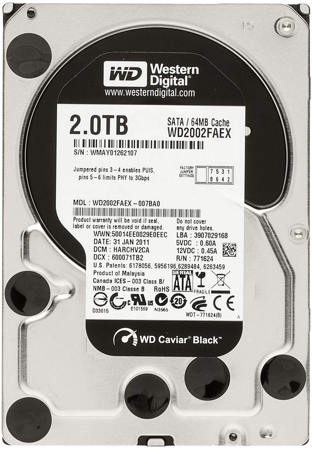 Western Digital 2TB HDD 3,5